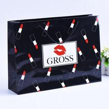 Custom made Art Paper Jewellery Cosmetic Make Up Paper Carrier Bags With Lipsticks Printing