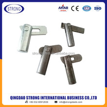 Scaffolding frame cross brace lock pin gravity lock pin