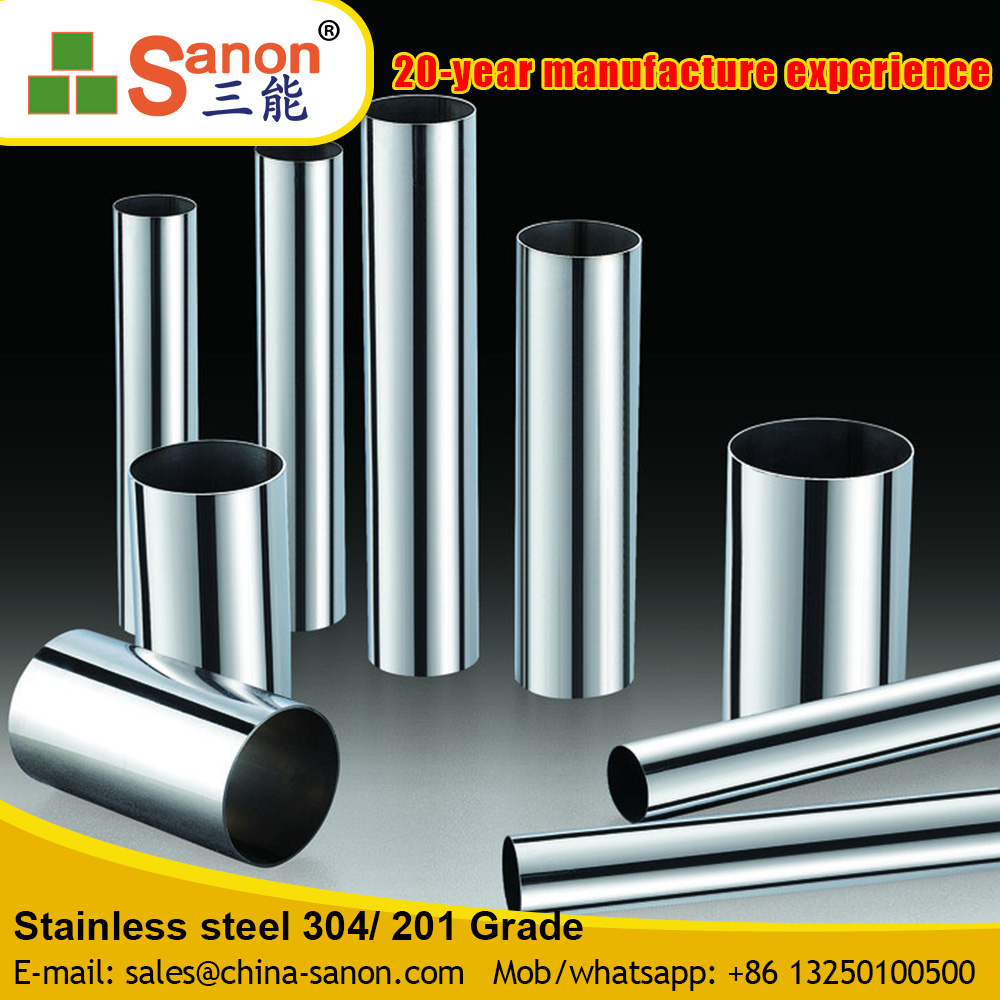 Astm A269 Tp304 Stainless Steel Tube Metal Pipe Chrome Metal Pipe Made In China