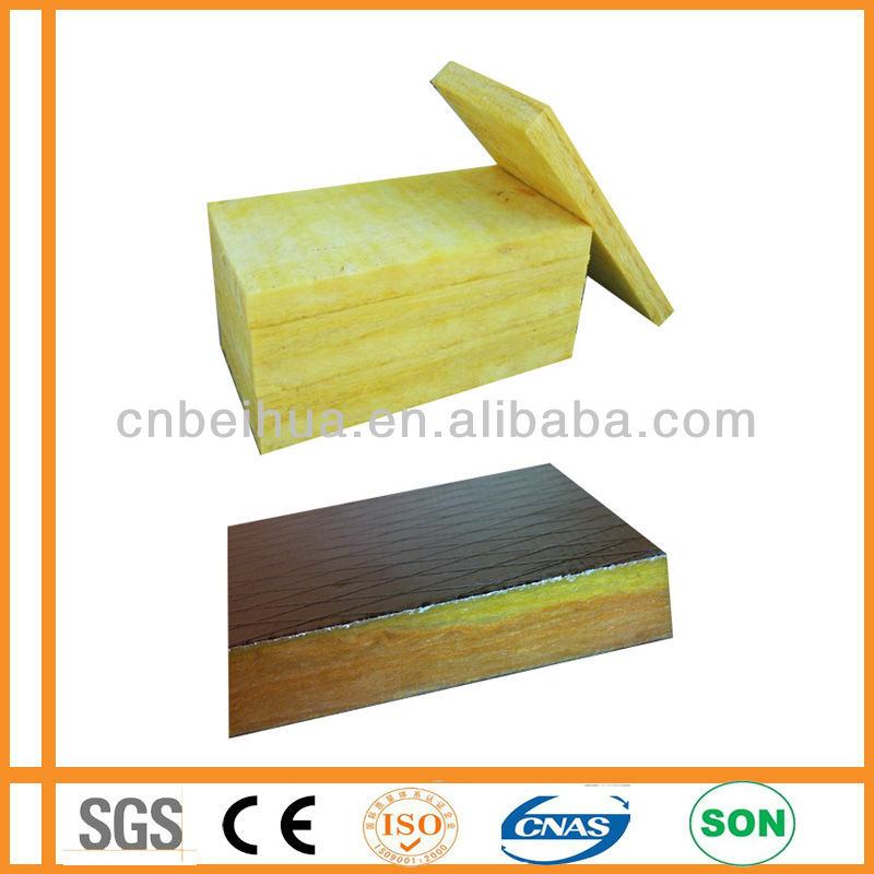 Aluminium foil faced super thermal Insulation Glass wool Board