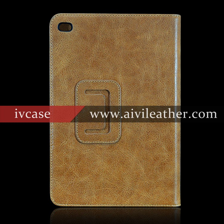 Slim Fit Leather Housings Top Layer Cow Leather Cover For Premium Leather Case iPad Mini 2