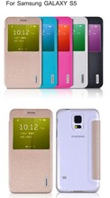 New arrival Smart function flip leather Cover Case for Samsung galaxy S5
