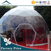 Beautiful Latest Decoration For Steel Structure Half Sphere Tent Exported To Turkey