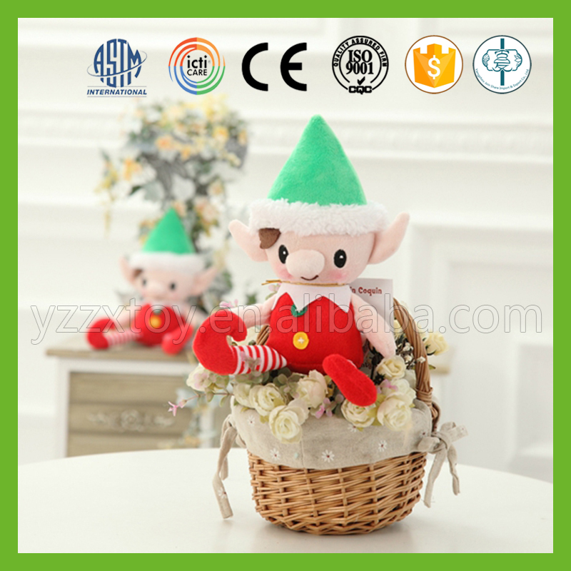 Factory direct sale cheap cute christmas plush elf soft toy for decoration