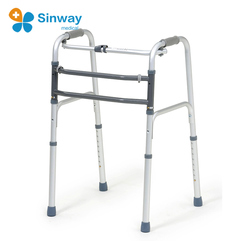 Elderly care products health care one button folding walkers for seniors