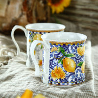 12OZ Elegant New Bone China Thick ceramic mug