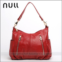 Long strap hobo style leather ladies' shoulder bags at low price brand handbag