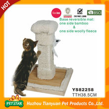 Base Reversible Mat Both Bamboo and Wool Fleece Wholesale Cat Scratcher