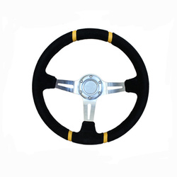 Mentor Rally Car Suede Steering Wheel