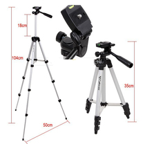 Portable Lightweight Aluminum Projector bracket Camera Tripod With Universal Flexible Rocker Arm Carry Bag