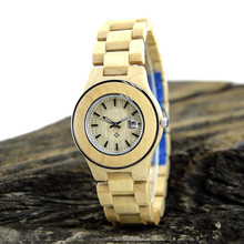Factory Direct Wholesale Japan Movt Quartz Wooden Wrist Watch With Design Of Stainless Steel Bezel