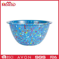 Sell well on usa market colorful mixing bowl , melamine plastic big salad bowl