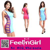 Newest Fashion Wholesale Hollow Out Hot Women Sexy Club Wear Dress