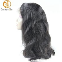 Wholesale price brazilian virgin human hair body wave wet and wavy cheap lace front wig