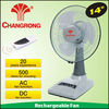 14inch rechargeable portable desk fan with 20pcs led and AC/DC operated
