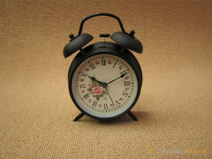 Cheap retro Twin Bell Alarm Clock for sale with Light function new products wholesale factory