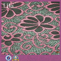 lita neon custom stretch kntted lace fabric