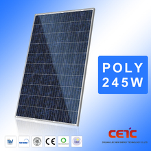 Efficient Polycrystalline Pv Model 245W Poly Solar Panel