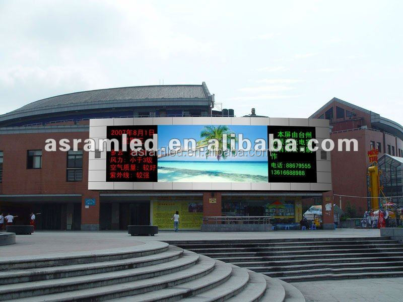 Iron Cabinet 960*960 Size P10 big Outdoor LED Display Screen
