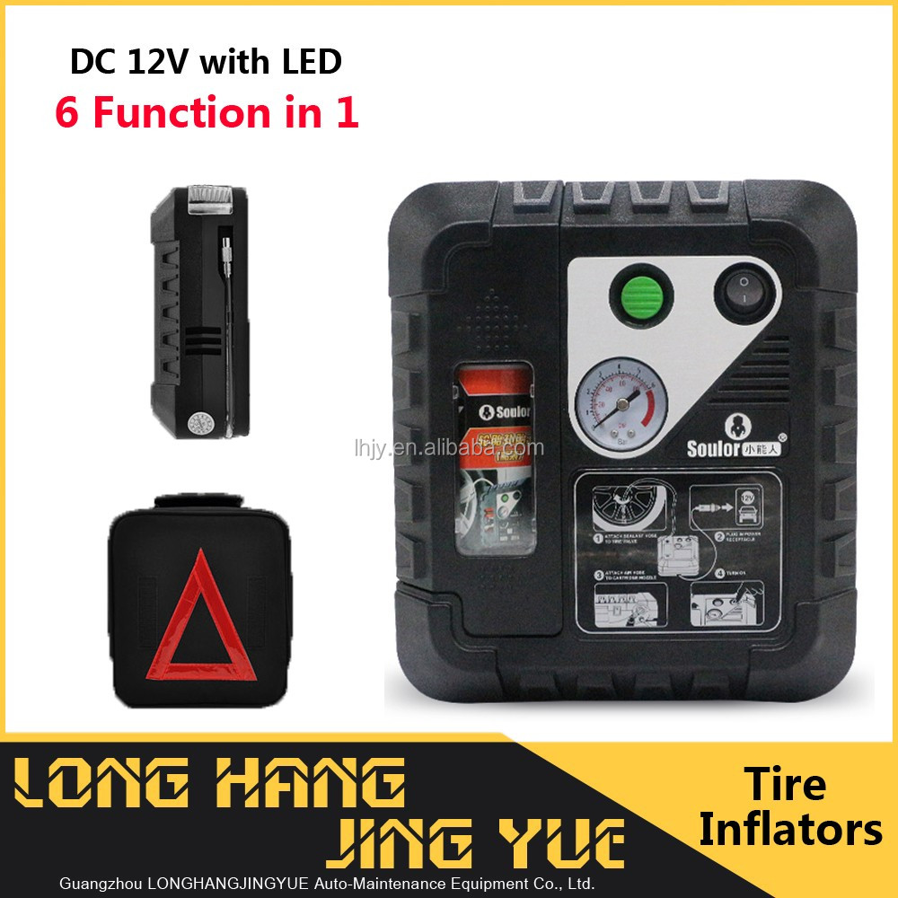 12v heavy duty air compressor tire sealer automatic digital tyre inflator car pump