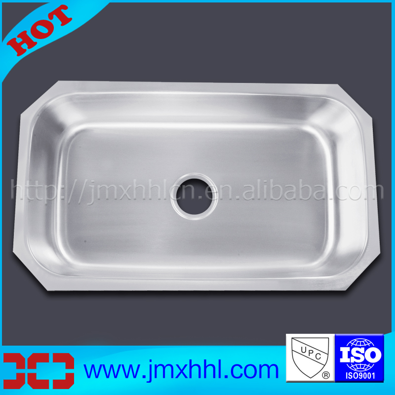 8047A High Quality Single 16 Gauge 1.5mm Thickness Stainless Steel Undermount Kitchen Sinks UK 8047A