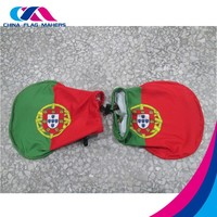 promotional car wing mirror cover flag , car flag side mirror socks