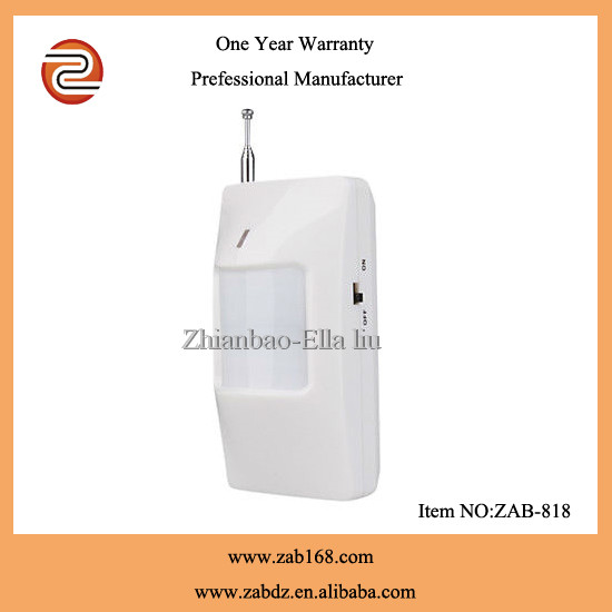 ZAB-818,Hot sell wireless,PIR motion sensor,long transmitting distance PIR motion detector