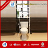 home stainless steel toilet paper holder with shelf