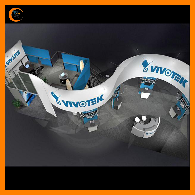 Outdoor tension fabric trade show booth, Exhibition booth backdrop wall displays