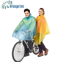 Top quality branded rain poncho for bicycle