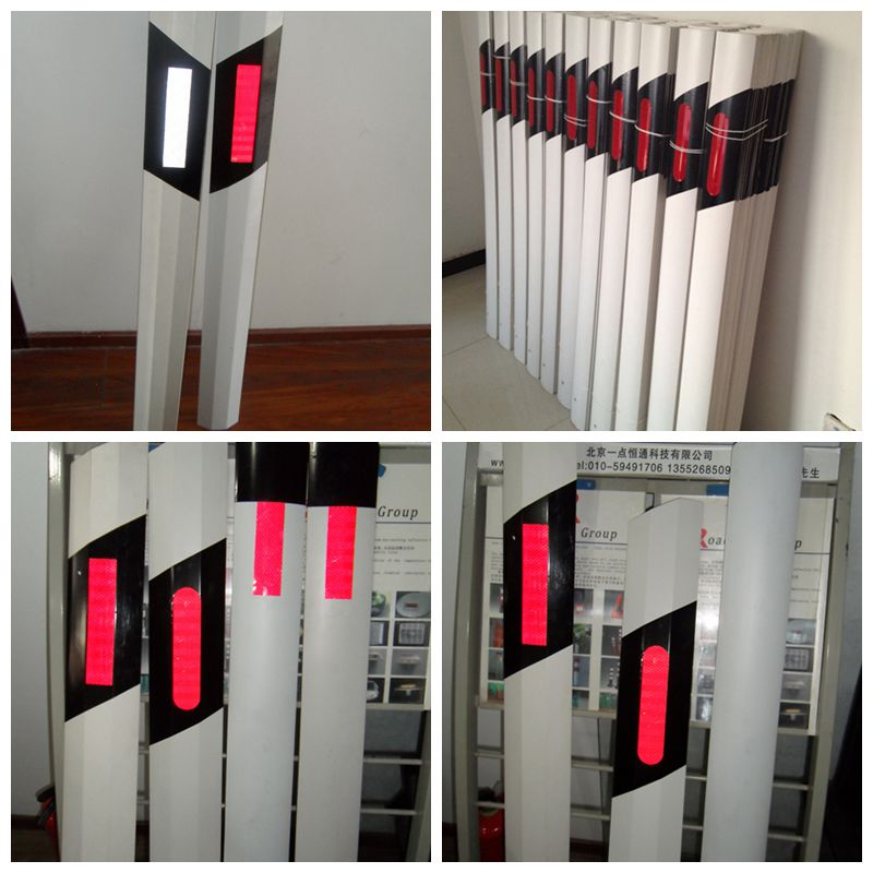 PVC warning flexible reflective traffic delineator post