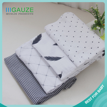 Customed Luxurious Breathable New Baby 2017 100% Cotton Muslin Blanket