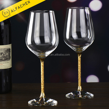 24 Carat Gold Foil Wine Glass Design Unique Drinking Glass for Bank VIP