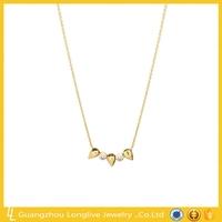 Guangzhou Longlive 925 silver diamond 3 bullet pendant necklace
