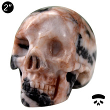 "wholesale 2"" skull stone carving,handmade natural rock minerals carved stone skull for sale #DOI"