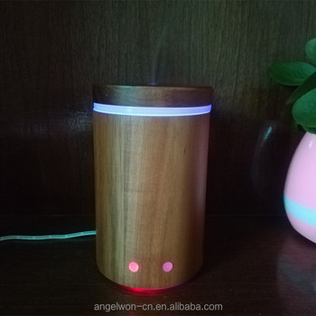 Real wood oil diffuser beauty aromatherapy humidifier air freshner with rainbow led lights