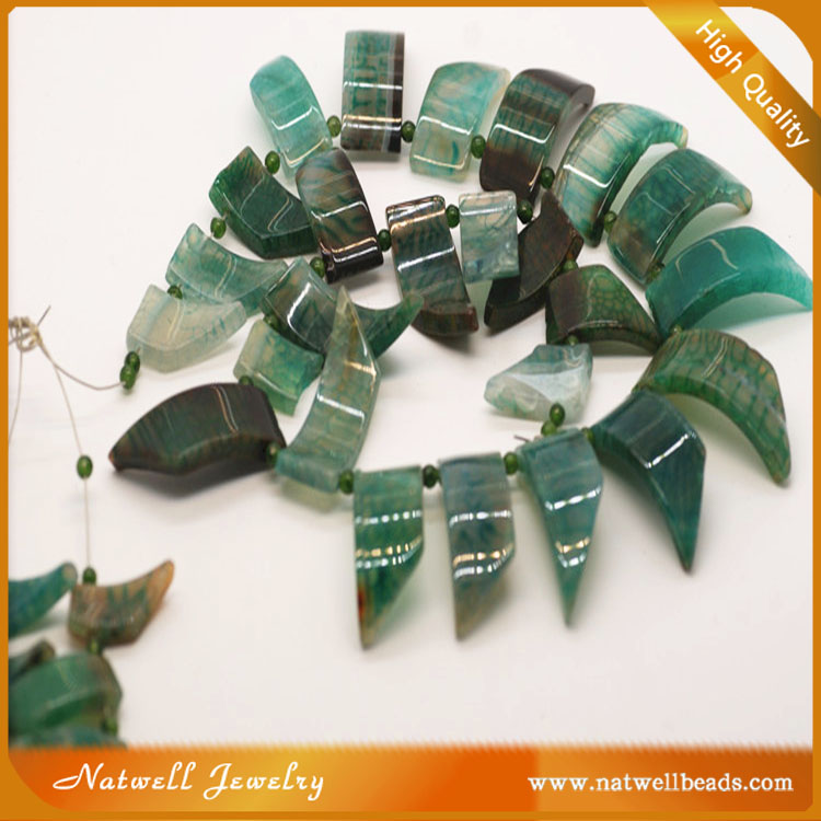 2016 wholesale latest design beads green arrow beads for jewelry making
