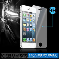 Whole transparency Plating Anti-water Anti-oil Mobile Phone lcd monitor tempered glass screen protector for iphone 5 5c 5s