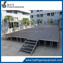 TFR December Paypal accepted height adjustable white plywood stage platform/catwalk aluminum stage