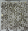 Light and dark Wooden Grey mixed pattern marble stone tile