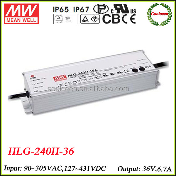 Meanwell HLG-240H-36 dc 36v high power led driver 200w
