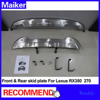 Stainless steel Front and Rear Skid Plate for Toyota Lexus RX350 270 Silver bumper plate front bumper and rear bumpers
