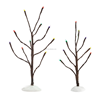 Department 56 Accessory FROSTED BARE CHRISTMAS BRANCH TREE LITES Resin Snow Village