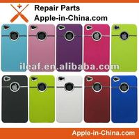 For Apple iPhone4 4S chrome hard back cover case