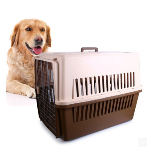 Pet Carrier Aviation plastic dog cage/dog house/aircraft cage with handle