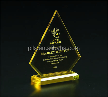 Golf Crystal Premium,Colourful Elegant Star Crystal Award
