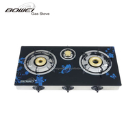 Butterfly glass cooktop three burner Gas Stove for sale BW-BL3009