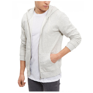 Design 100% Cotton Plain Men Fitness Zip Up Hoodie Custom Wholesale