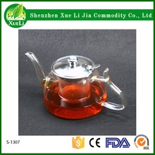 Hot Selling Heat Resistant Clear Chinese Glass Tea Pot Sets Infuser Flower Tea Pot