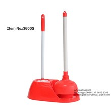 HQ2600S amazon printed carton packing with toilet brush set eco-friendly toilet plunger